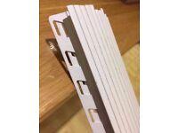 Pack of 10 white deep tile trim/bead