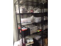Heavy Duty 5 Tier Metal Shelving Units - Black - 20 pcs. available