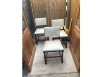 5 dining or kitchen chairs