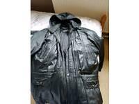 Leather coat mans .size xl