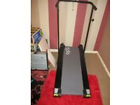 Manual treadmill. Folds up. Comes with Oil and pedometer Brand new.