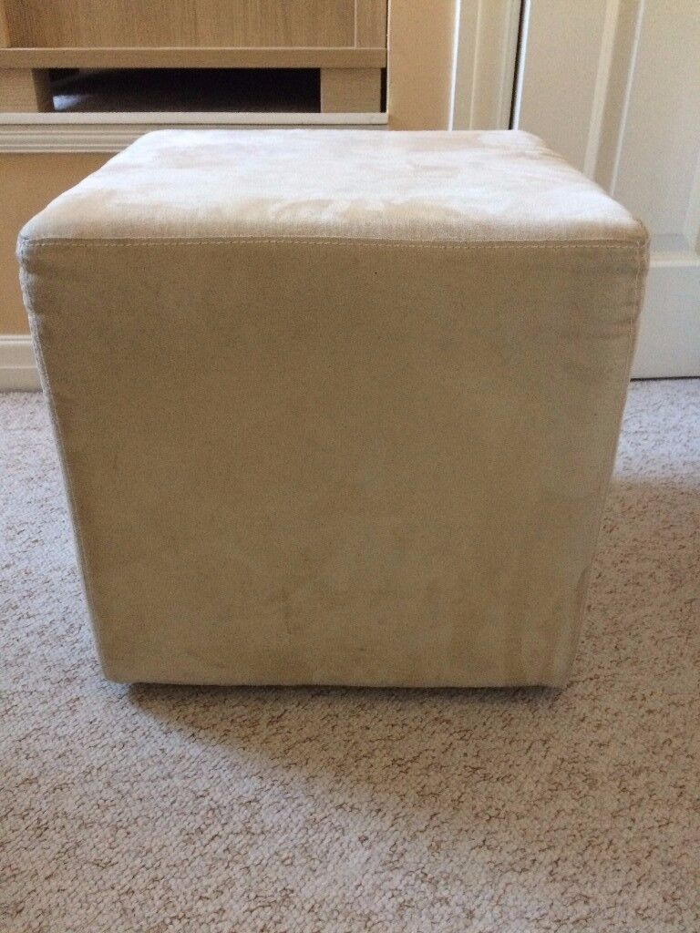 Bedroom Suede Stool Chair