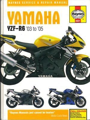 YAMAHA R6,YZF-R6,R,S,T,HAYNES WORKSHOP MANUAL 2003-2005