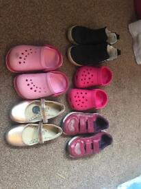 5xpairs of girls shoes size 8