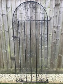 Black Steel Garden Gate