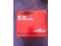 BOSS RC-30 LOOP STATION TWIN PEDAL, PSA-230 ADAPTER, BOSS F5-5U MOMENTARY FOOT SWITCH