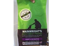 WAINRIGHT'S PUPPY FOOD 2KG - brand new & unopened