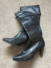 French Connection knee high leather boots