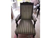 Edwardian Gentleman's Fireside Chair