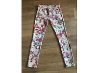 Zara multicolore skinny jeans