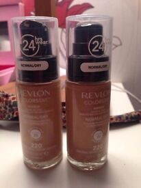 2 Revlon Colorstay Foundations Normal/Dry Skin (Natural Beige)