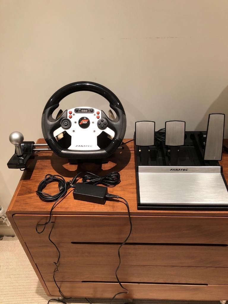 Fanatec CSR Forza Edition Gaming Wheel, Pedals and Sequential Shifter | in  Wimbledon, London | Gumtree