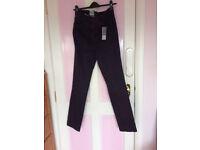 New - women dark purple jeans, UK size 12