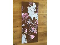 Hand Painted Floral Design Large Canvas