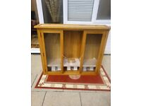 Large heavy display cabinet