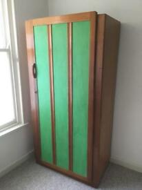 Wardrobe with large mirror