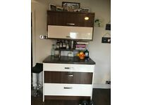 Howdens high gloss kitchen wall cupboard and base