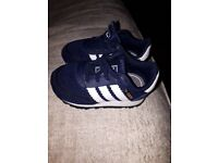 Toddler trainers. Adidas UK size 4 Nike rifts UK size 5.5 (small fitting) both worn, good condition