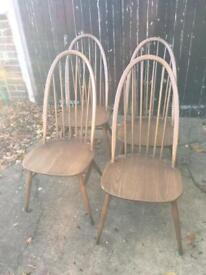 Ercol dining chairs £195