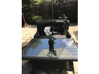 Garden sofa & table