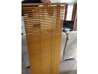 4 faux wood teak blinds 60 wide X 150 drop