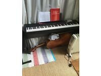 Yamaha Electric Piano with pedal and stool