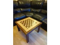 New Wooden Chess Board Top Table (Coffee Table)