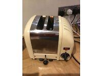 Dualit Vario 2 slice toaster cream vintage style