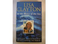 Sailing Book - AT THE MERCY OF THE SEA - LISA CLAYTON