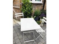 Quality White Garden Table and Chairs
