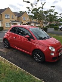 64 plate red fiat 500 sport