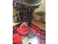 As New black and chrome bar stool