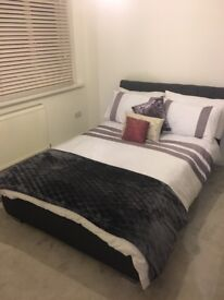 Contemporary grey fabric 4ft 6 bed
