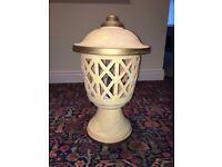 Clay lattice table lamp