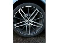 """5 stud 108 rosso alloys and wheels 18"""""""