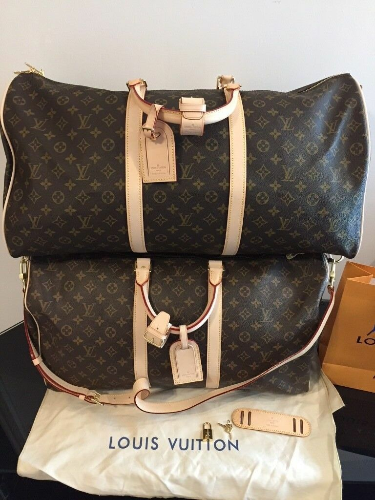 1c7ade4e2 Louis Vuitton Bandouliere 55 & 60 Monogram canvas Keepall package