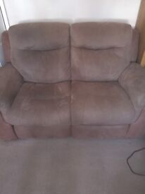 DFS two and three reclining sofas
