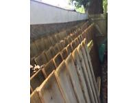WOODEN FENCING FEATHEREDGE WITH POSTS
