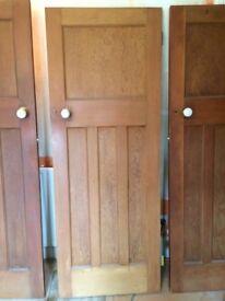 4 x 1930s Solid wood doors