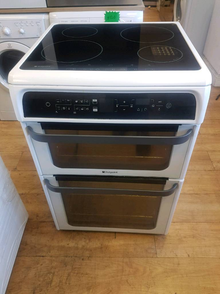 HOTPOINT DOUBLE OVEN ELECTRIC COOKER 60CM WIDTH INDUCTION HOB