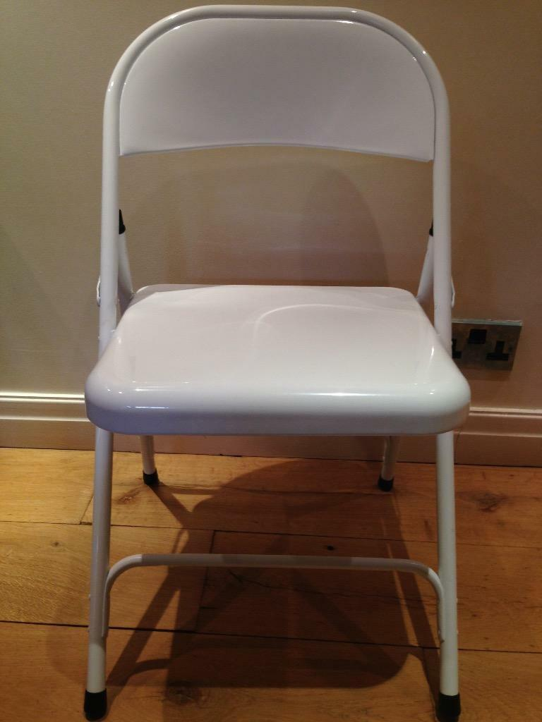 4 White Metal Folding Chairs as new in Clitheroe  : 86 from www.gumtree.com size 768 x 1024 jpeg 53kB
