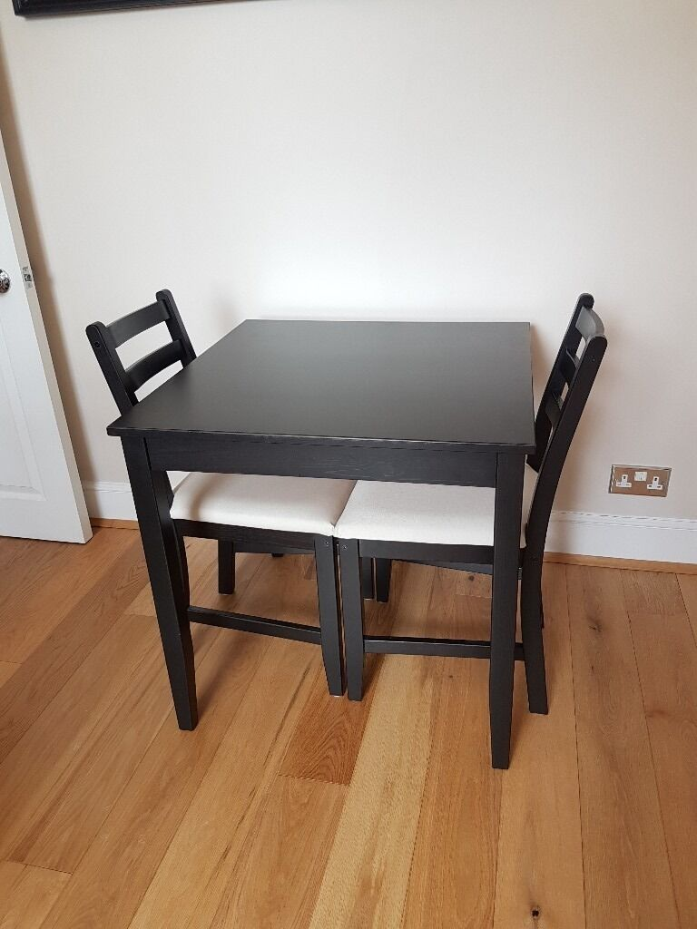 Black Brown Dining Table Amp 2 Chairs Very Good Condition
