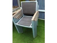4 real rattan garden chairs