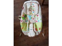 Woodland theme fisher price baby bouncer