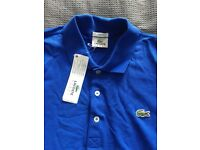 Lacoste long sleeved polo shirt size Large
