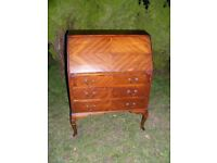 CAN DELIVER - SOLID WOOD BUREAU IN GOOD, CLEAN CONDITION