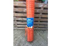 Barrier Fencing Orange full roll 1m x 50m