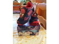 BRAND NEW SPIDERMAN TRAINERS SIZE 2