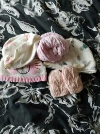 Baby girls clothes new born 0-3 months and baby travel bed with mosquito net £20