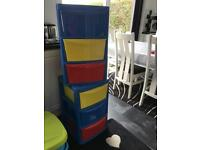 2 x children's plastic towers - Excellent Condition